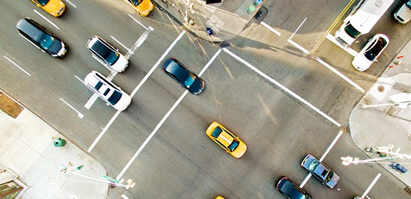 Overhead-View-of-Traffic-at-Intersection