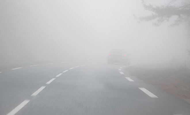 car-on-foggy-road