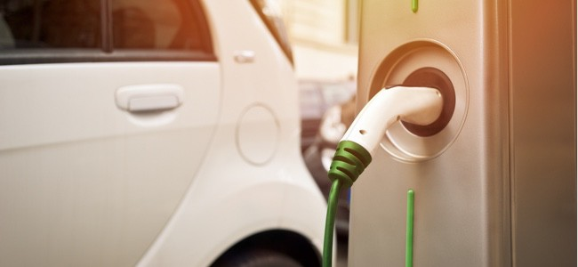 Electric-Vehicle-Plugged-In