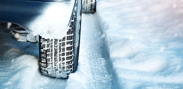 Tire-With-Snow-Close-Up